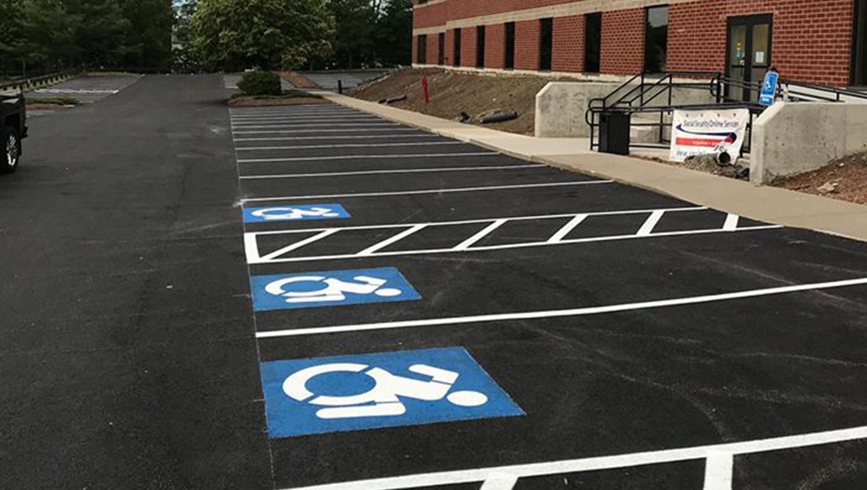 ada parking lot marking restripe image