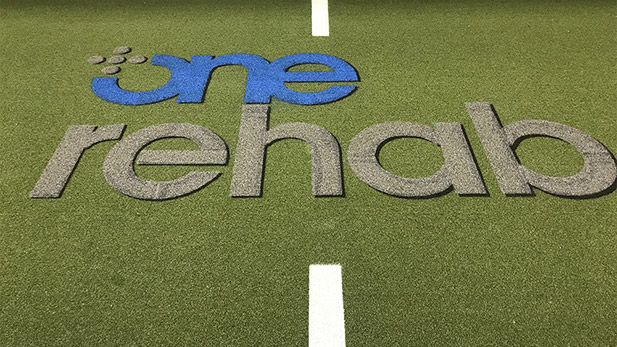 One Rehab Turf Striping Project image