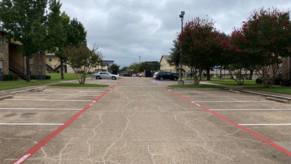 Re-Striping Project for Red Oak Apartments image