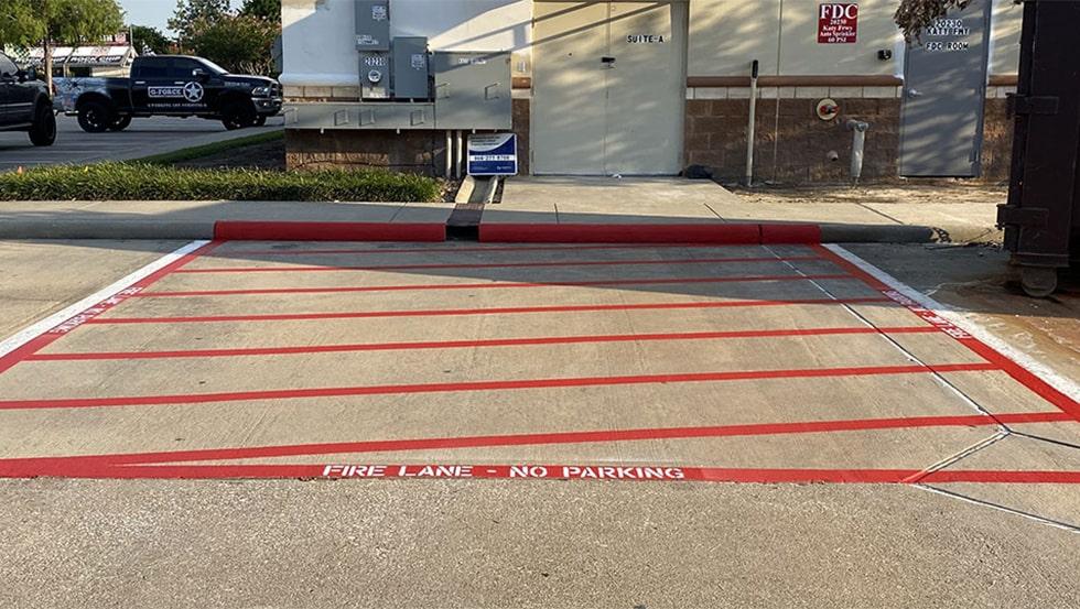 Katy, Texas Fire Lane Marking Project image
