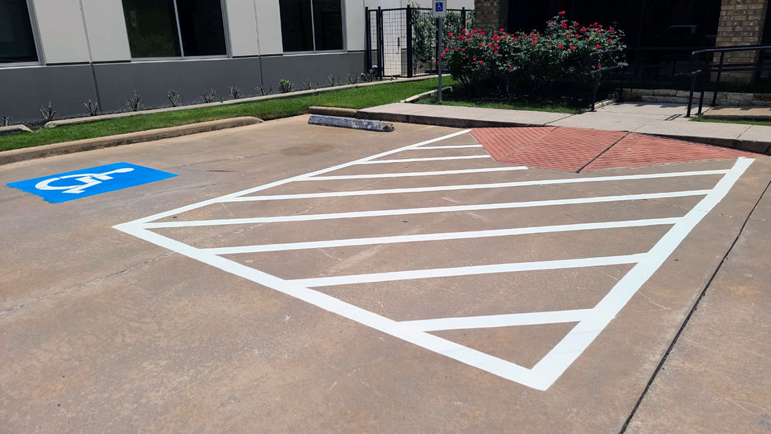 Line Striping Project for West Gray Center of Surgery image