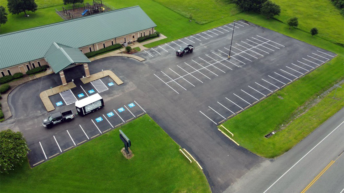 Line Striping Project for Alvin Lutheran Church image