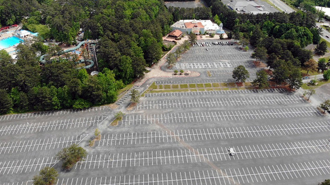 Line Striping for Six Flags Whitewater image