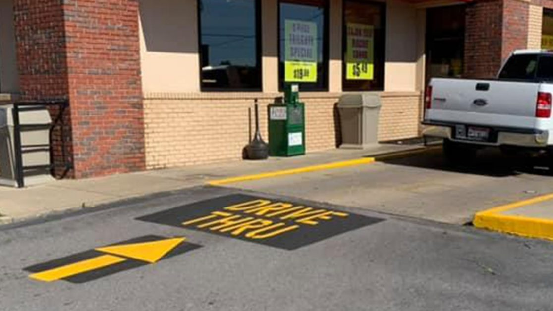 Pavement Markings Project at 9 Local Bojangle's Restaurants image