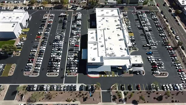 Peoria Volkswagen Restriping and Sealcoating Project image