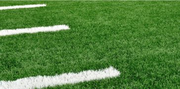 athletic field with white stripes