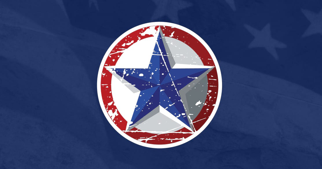 g-force star on american flag background