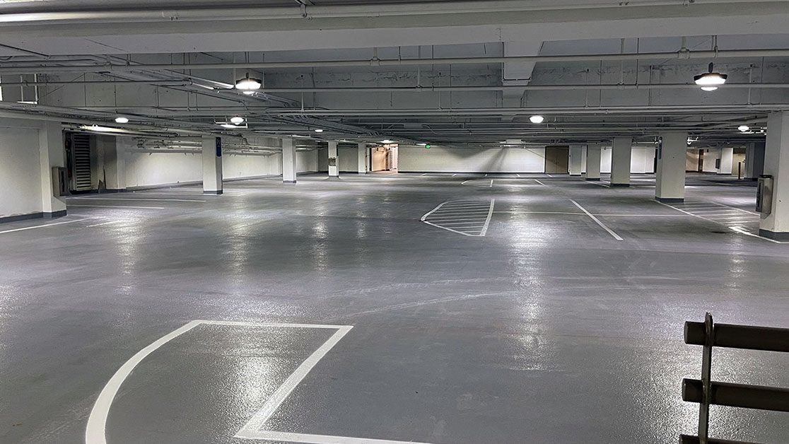 Line Striping Project for City Creek Parking Garage image