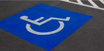 ada parking lot markings