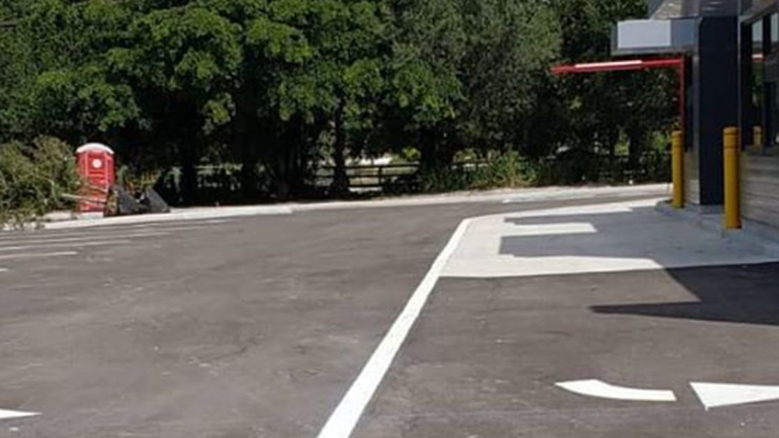 Parking Lot & Drive Thru Markings for Fast Food Chain image