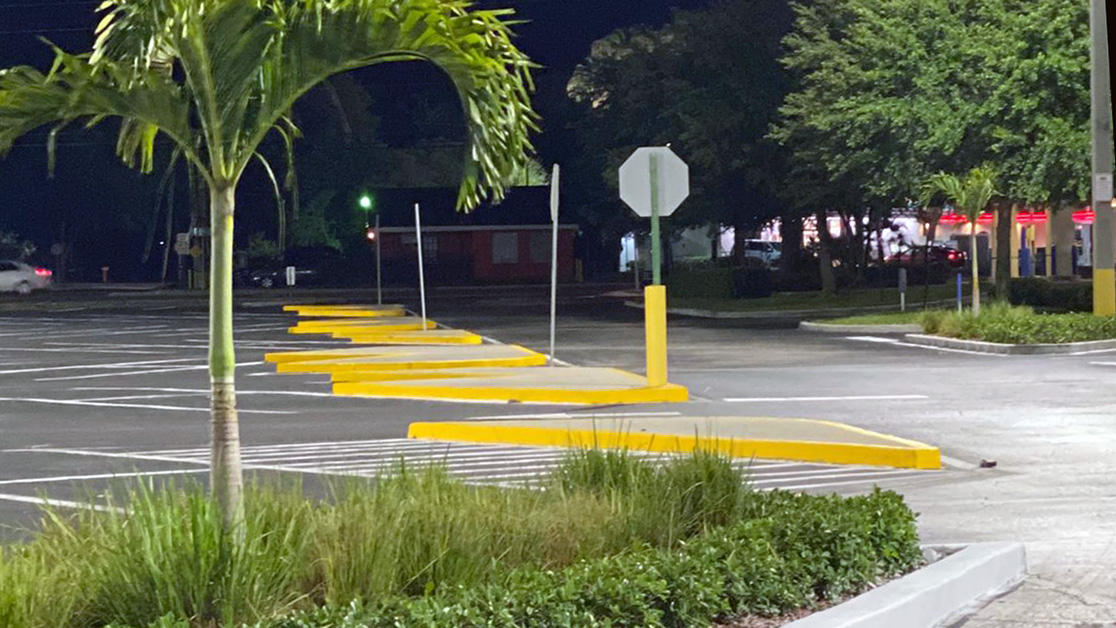 Line Striping Project for Tampa, FL Shopping Plaza image