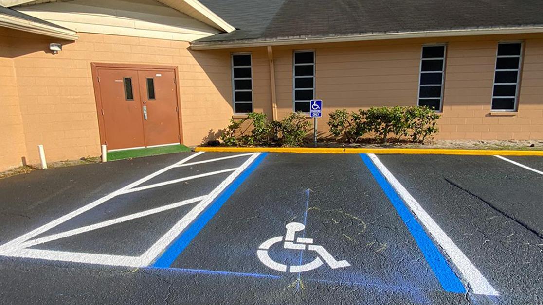 Lakeland, FL Church Line Striping Project image