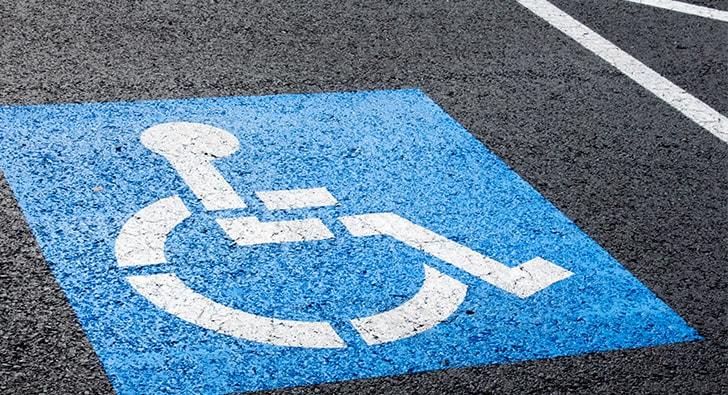 handicap parking lot