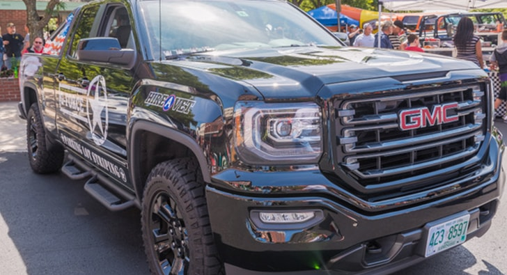 close-up of GMC G-force truck
