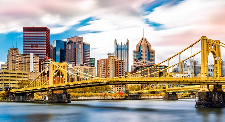 Pittsburgh, PA skyline
