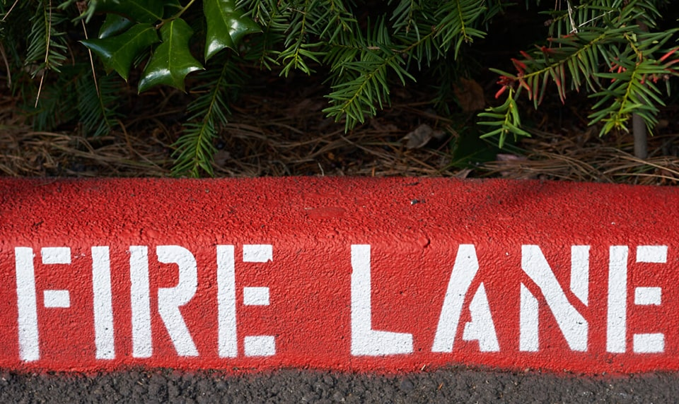 Image of Fire Lane Striping Services in Texas